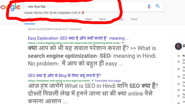 Keyword ka searching kaise check kre
