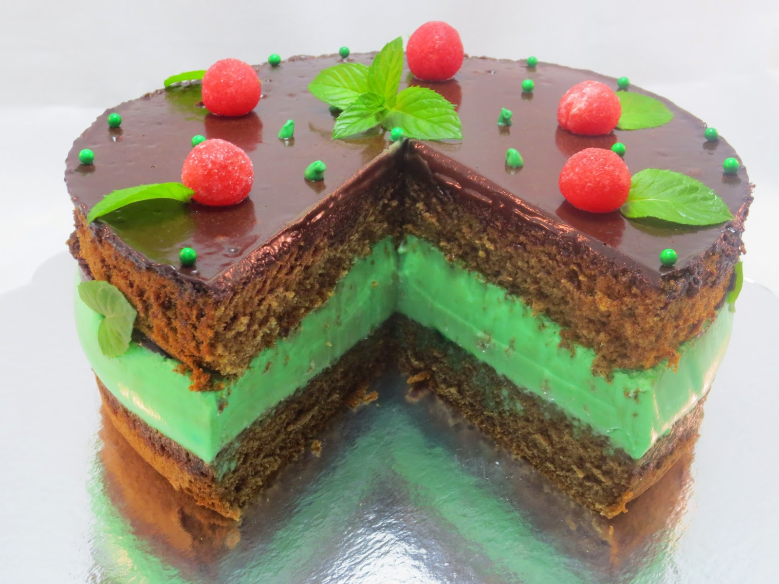 Tarta mousse de menta y chocolate Thermomix