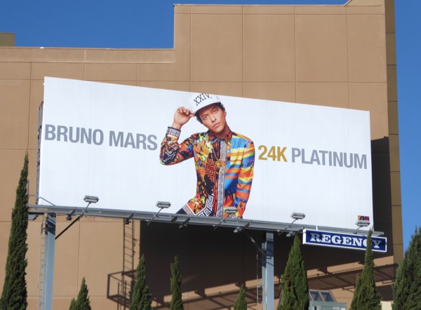 Bruno Mars 24k Platinum billboard