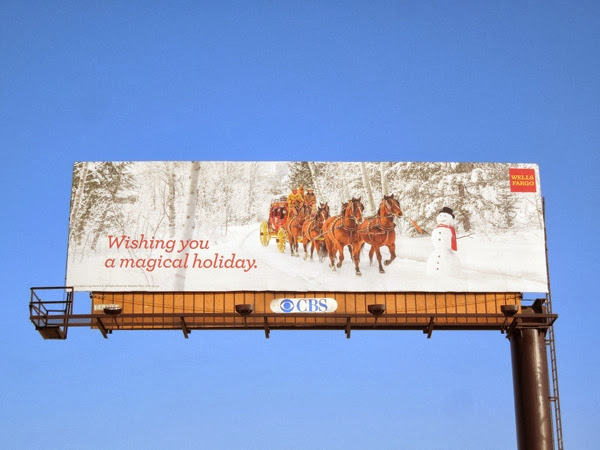 Wishing you a magical holiday Wells Fargo billboard