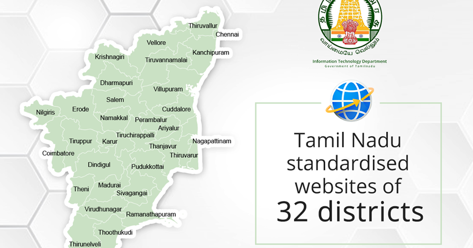 List Of 32 Districts In Tamil Nadu And Their Official