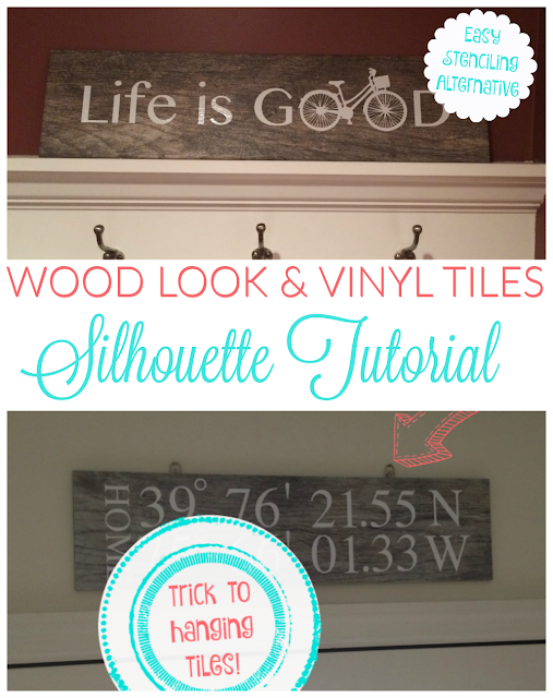Vinyl, Wood, vinyl wood signs, wood look tiles, Silhouette tutorial