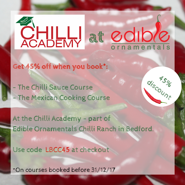The Chilli Academy at Edible Ornamentals - course discounts
