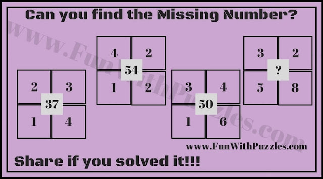In this Math Brain Teaser, your challenge is to find the missing number which replaces the question mark