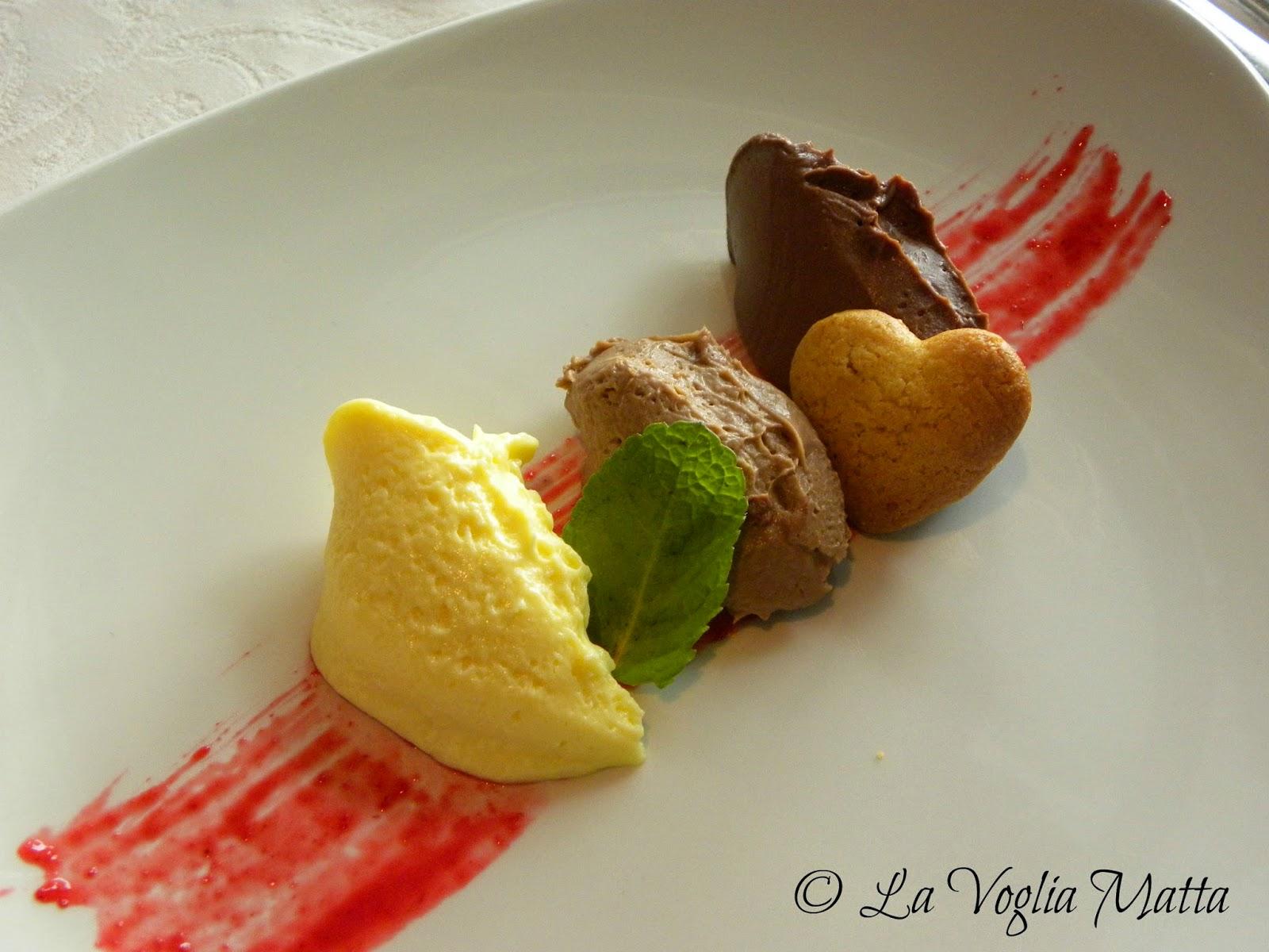 """Ristorante """" Rizi Bizi """"3 ganache al cioccolato"""
