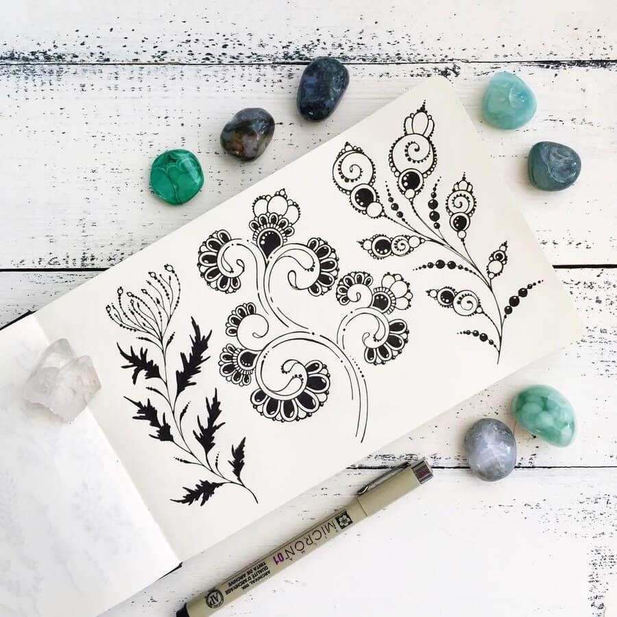 04-Ksenya-Gromova-Ink-Mandala-and-Flower-Drawings-www-designstack-co