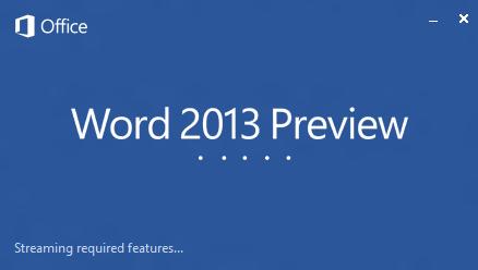 Word 2013 Splash Screen