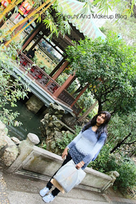 Beautiful pond, pavilion, bridge at Lou Lim Ieoc Chinese Garden in Macao, best theme park for children in Macau