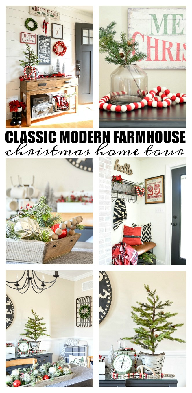Classic and Modern Farmhouse Christmas Home Tour