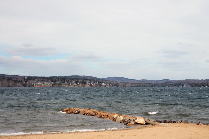 lake winnipesaukee, the margate shores, rough seas on the lake, lakes of new hampshire, paugus bay