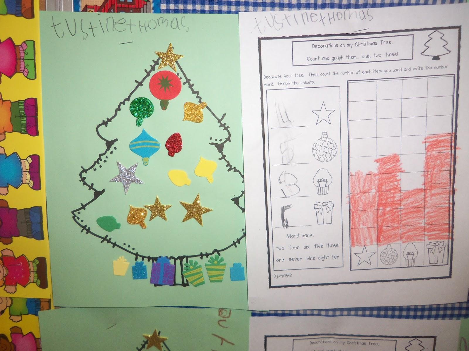 Mrs Wood S Kindergarten Class Decorating Christmas Tree Graph