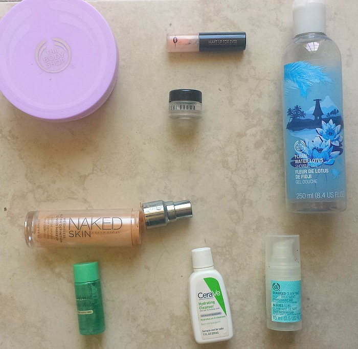 March 2017 makeup and skincare empties