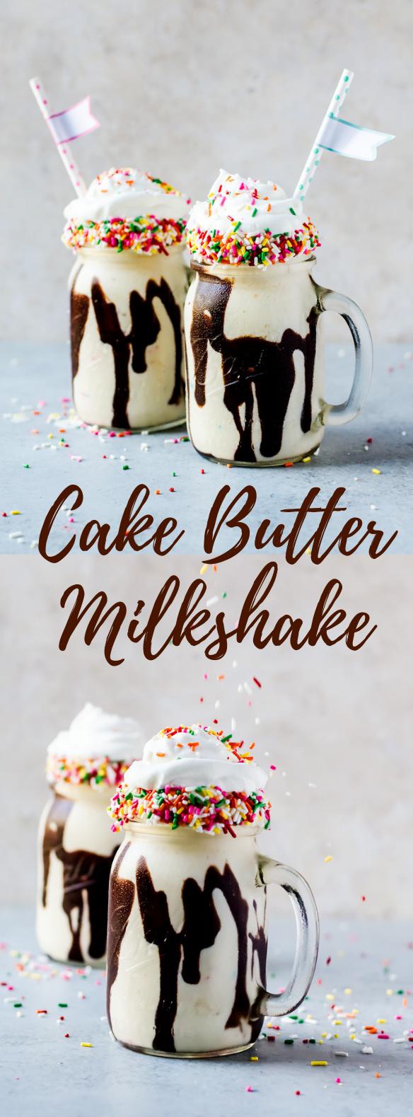 CAKE BATTER MILKSHAKE #Delicious #milkshakes