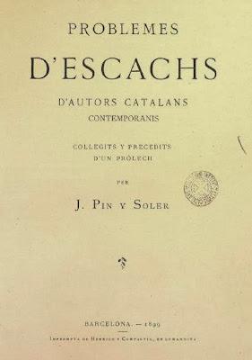 Portada del libro de Pin y Soler, Problemas de ajedrez