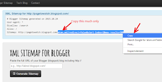 How to generate blogger sitemap and update in google webmasters