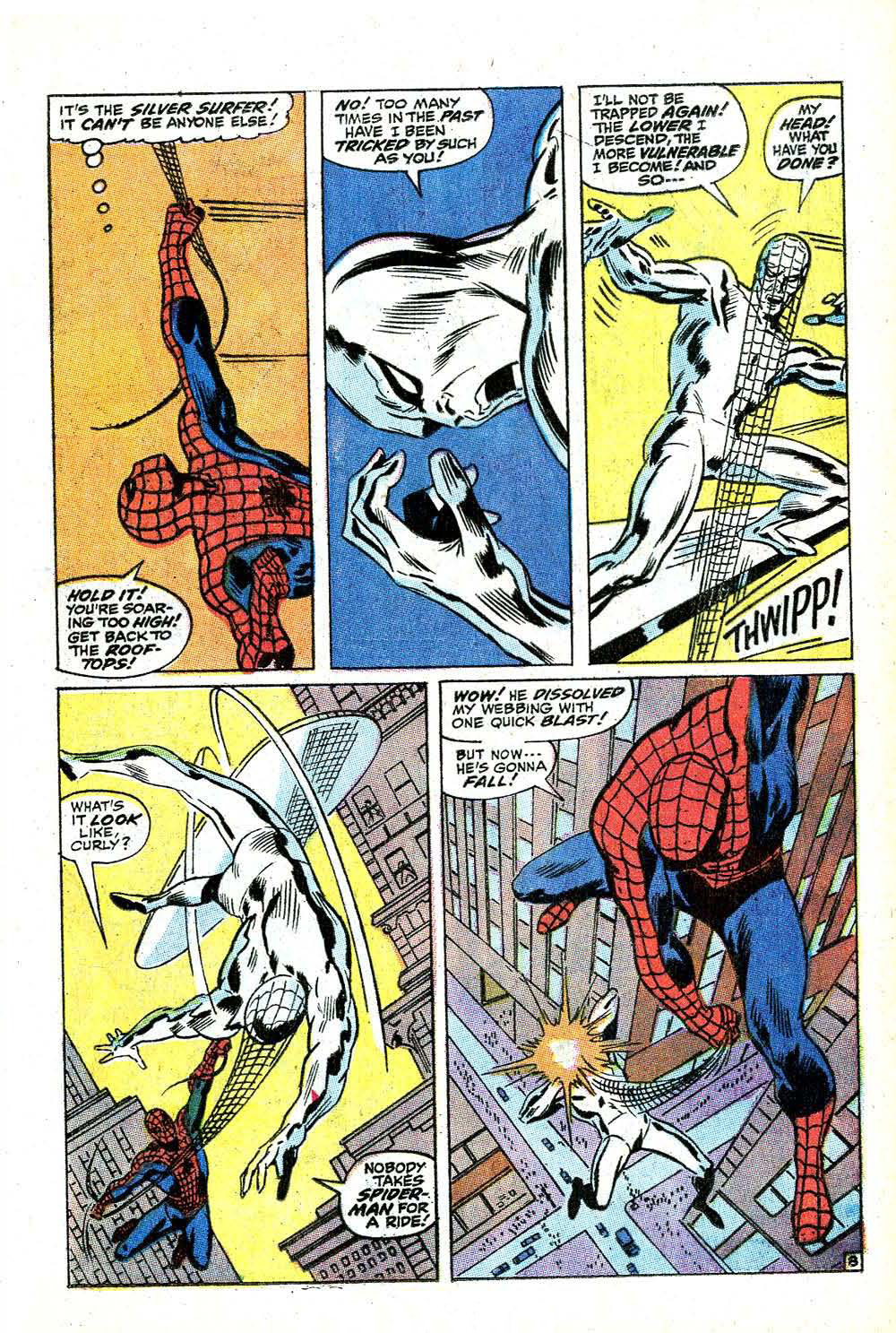 The Bronze Age Of Blogs: The Silver Surfer vs. Spider-Man