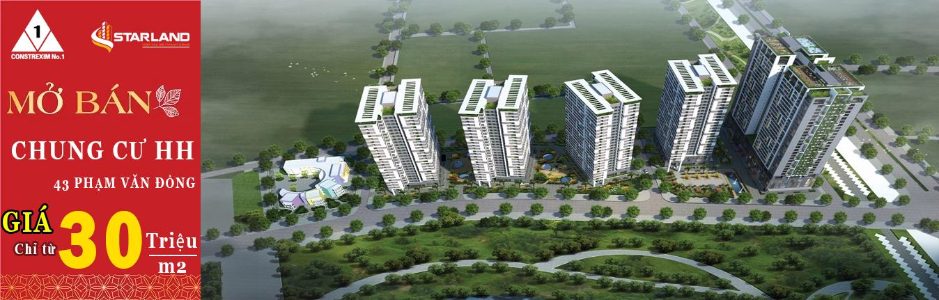 mở bán chung cư HH 43 Phạm Văn Đồng