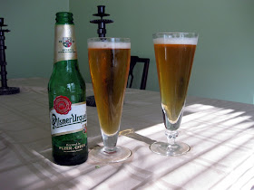 Two very similar looking Pilsners, mine is on the right.