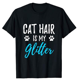 Image: Cat Hair is My Glitter T-shirt | Funny Cat Lover Gift Shirt