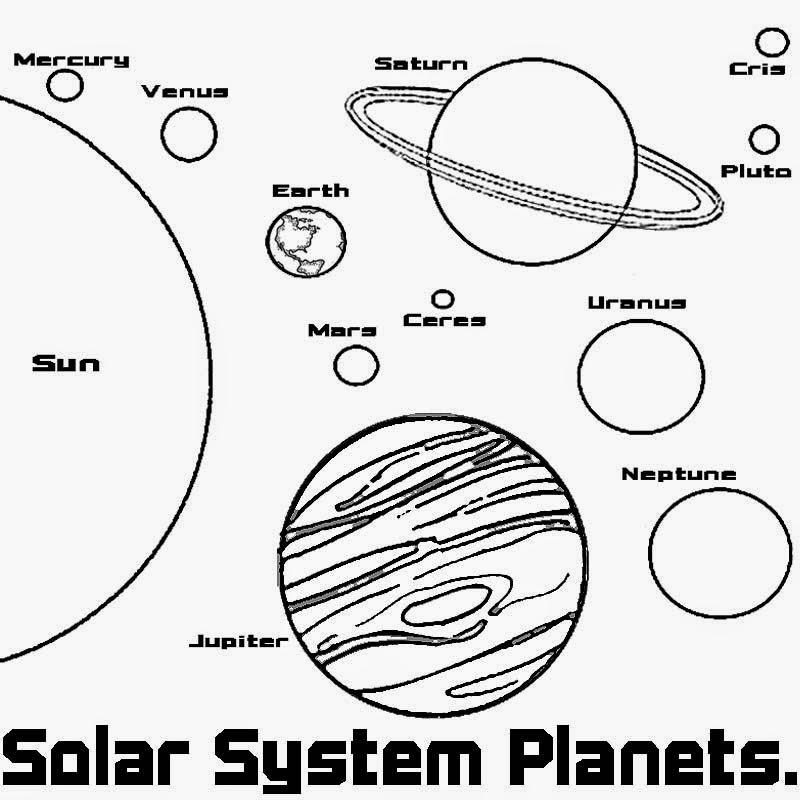Desenhos Do Universo Para Colorir Pintar Imprimir Sistema Solar