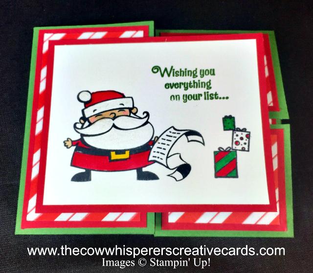 Fancy Fold Card, Signs of Santa, Santas Workshop Specialty Designer Series Paper