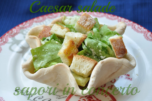 1. la ceasar salad in cestino di Antonella