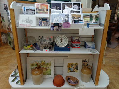 Greeting cards and art for sale at Calne Heritage Centre.