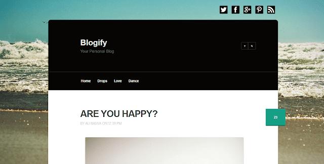 Blogify Blogger Template