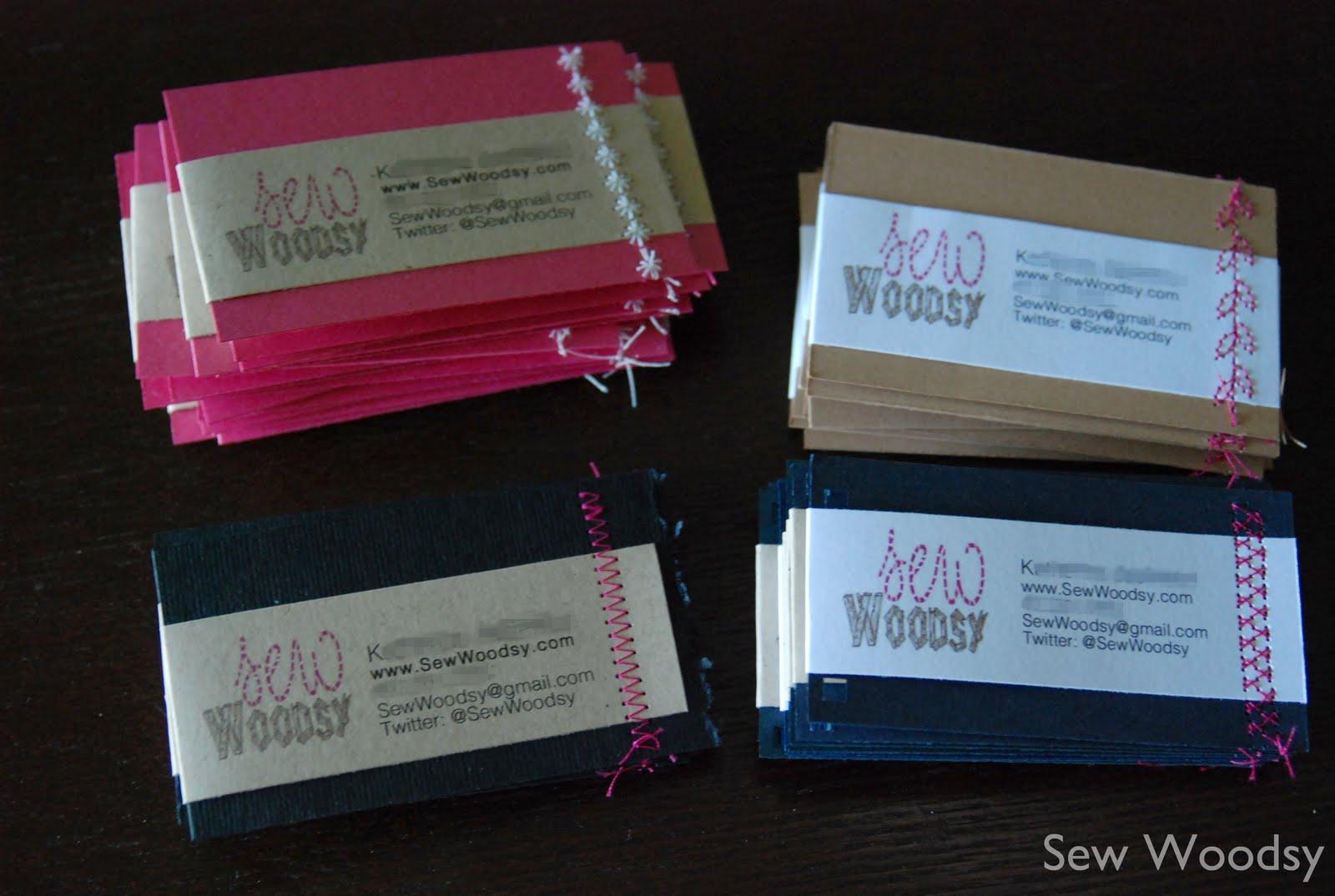 sewn homemade business cards  cfl blog con recap  sew