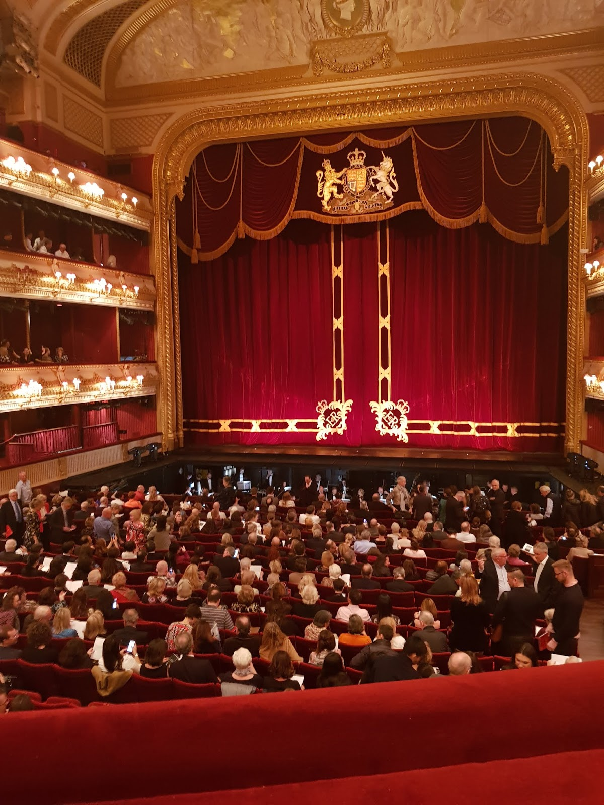 Waiting for curtain up at the Royal Opera House in London
