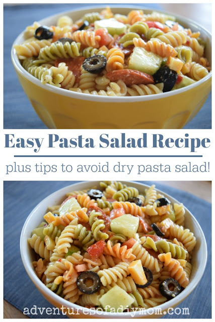 Easy pasta salad recipe PLUS tips to avoid dry pasta