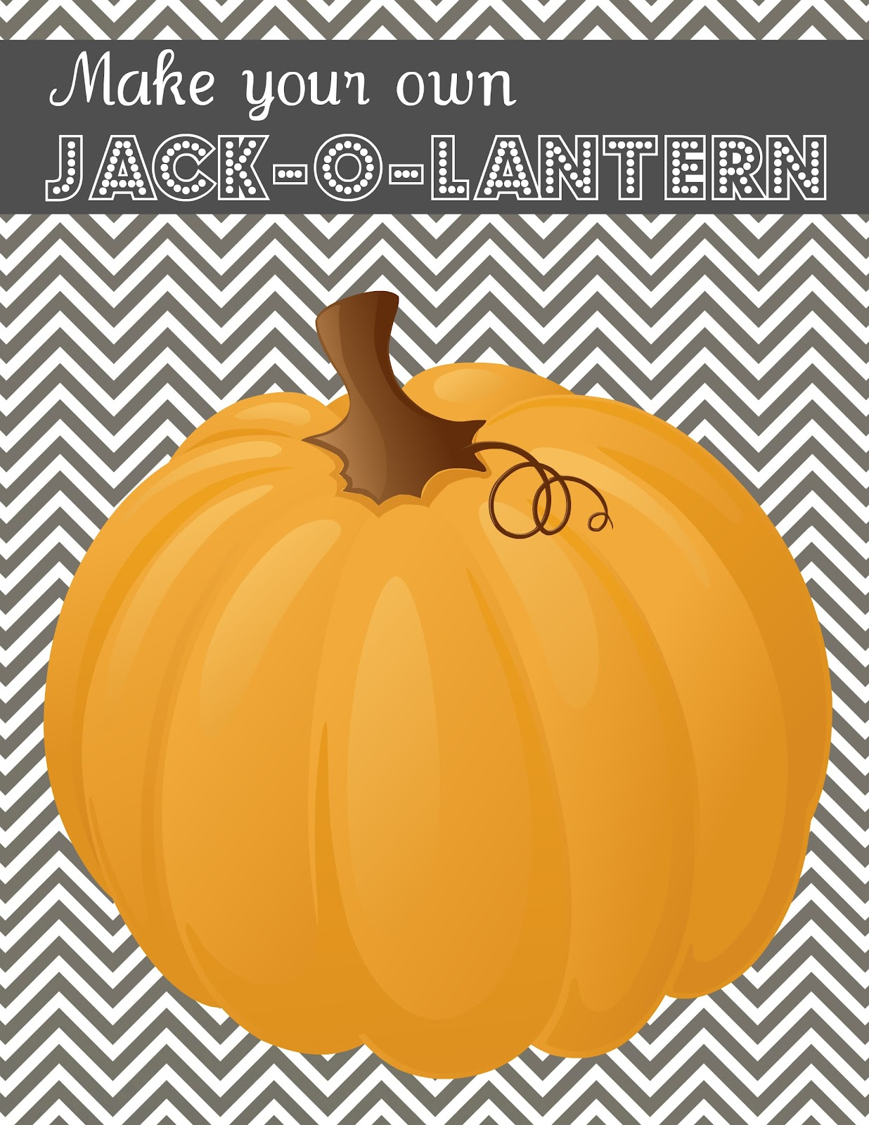 Make Your Own Jack O Lantern Printable