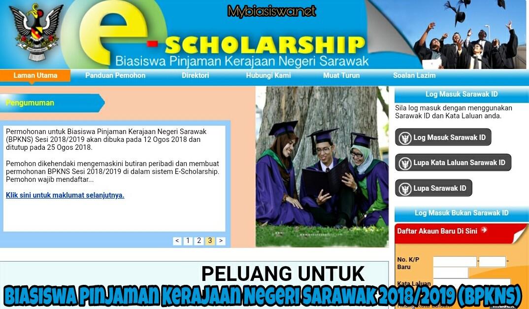 Permohonan Biasiswa Pinjaman Kerajaan Negeri Sarawak 2020 Bpkns Biasiswa 2020 2021