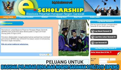 Biasiswa Pinjaman Kerajaan Negeri Sarawak 2018/2019 (BPKNS)