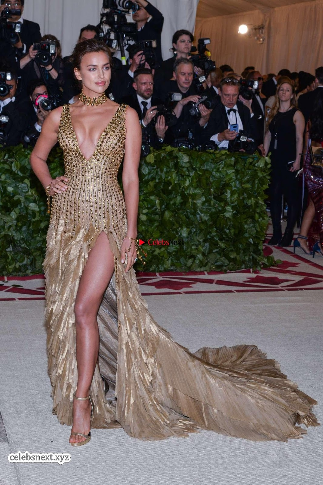 Deepika Padukone looks stunning with Irina Shayk at 2018 MET Costume Institute Gala ~ CelebsNext Exclusive
