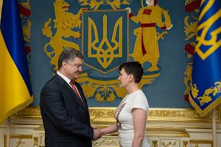 Ukrajna elnöke Szavcsenkó Porosenko