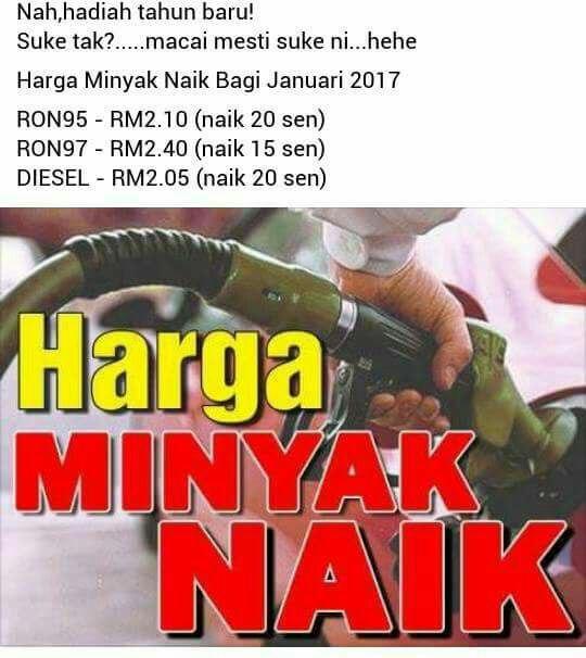 Petrol RON95 Naik Harga
