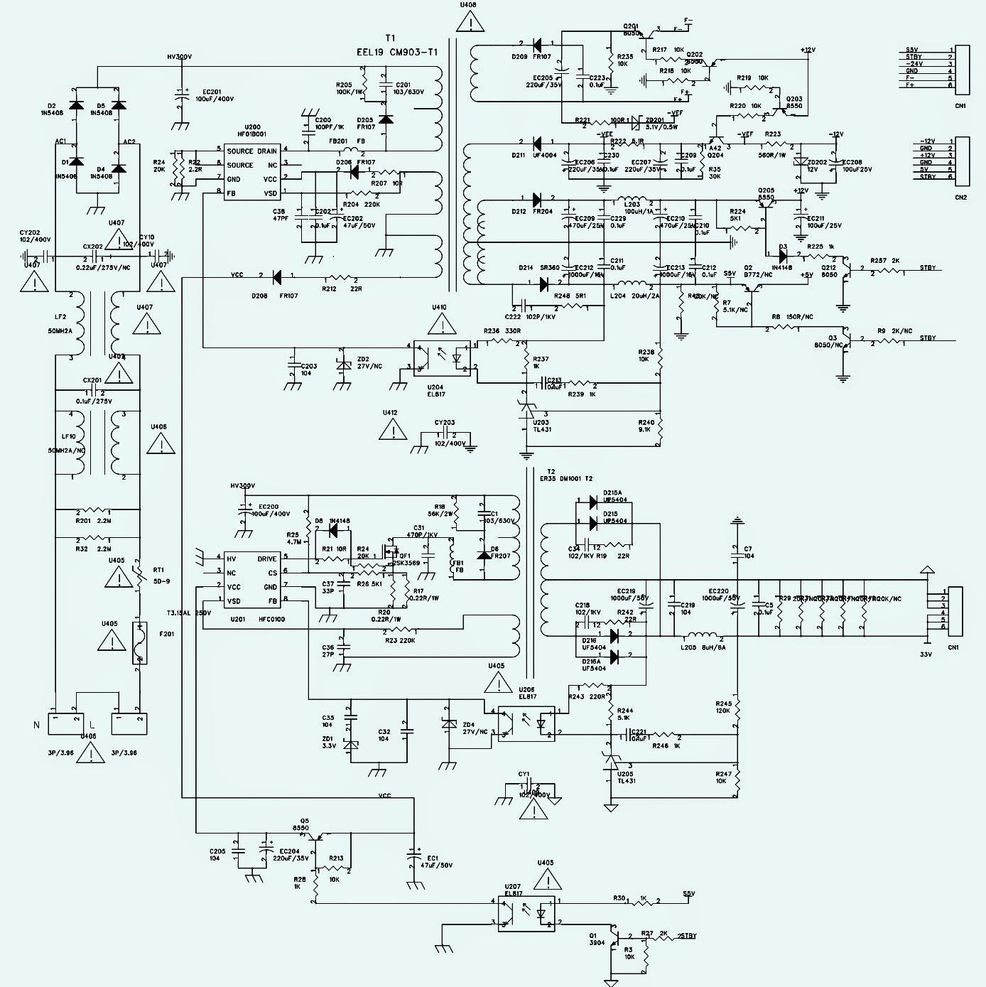 tv ph19d led tv power supply smps schematic circuit diagram