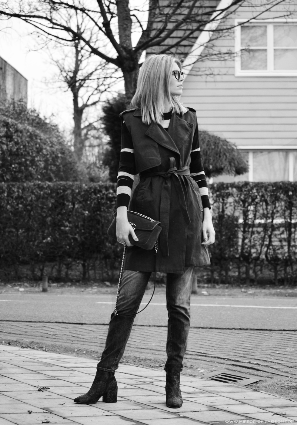 Outfit of the day, carven, Gucci, Jbrand, Aldo, Fendi, Dewolf, Naiomy, Earnest Sewn, outfit, ootd, look, fashion, blogger, gilet,