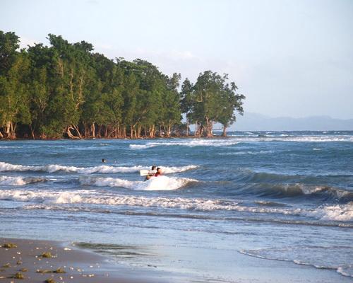 Tinuku.com Travel Tampan Amma Beach extends 12 kilometers in Karakelang Island east side