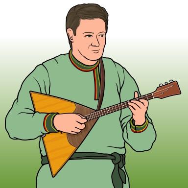 ロシアの弦楽器 バラライカ balalaika