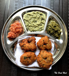 Medu vada is a doughnut shape savory fritter that is made by split black lentils (urad dal) batter, filled with veggies and spices, and, than deep-fried in a vegetable cooking oil. These fritters are crunchy and crispy on the outside and soft on the inside.