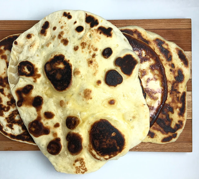 Pile of Freshly Made Naan