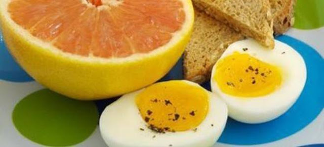 egg and grapefruit