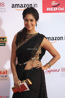 Sindhu looks fabulous in Black Saree designer choli at Mirchi Music Awards South 2017 ~  Exclusive Celebrities Galleries 041.JPG