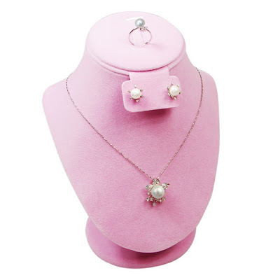Shop Nile Corp Wholesale Necklace Display Deluxe Pink Velvet