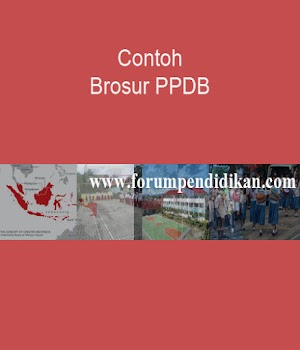 Contoh Brosur PPDB Ms. Word | Kesiswaan