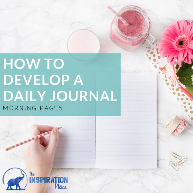 creative daily journaling prompts | journal morning pages | daily affirmations and goals | goal setting | How to Develop a Daily Journal + 10 daily free daily journal prompts free printable → http://schulmanart.blogspot.com/2017/04/how-to-develop-daily-journal.html