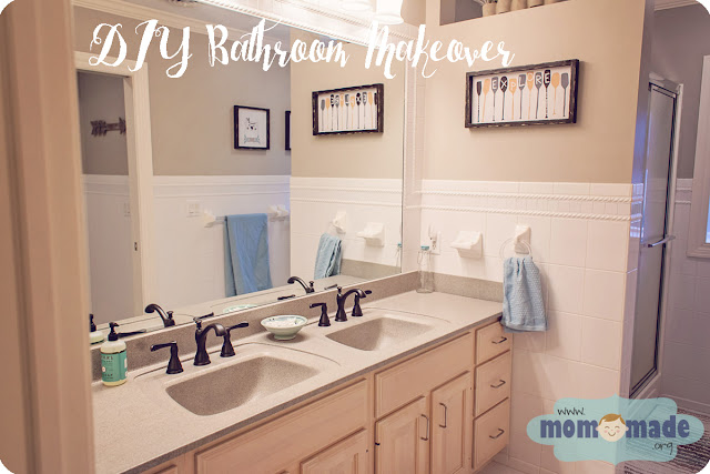 DIY Bathroom Makeover Using Spray Paint by Mom-Made