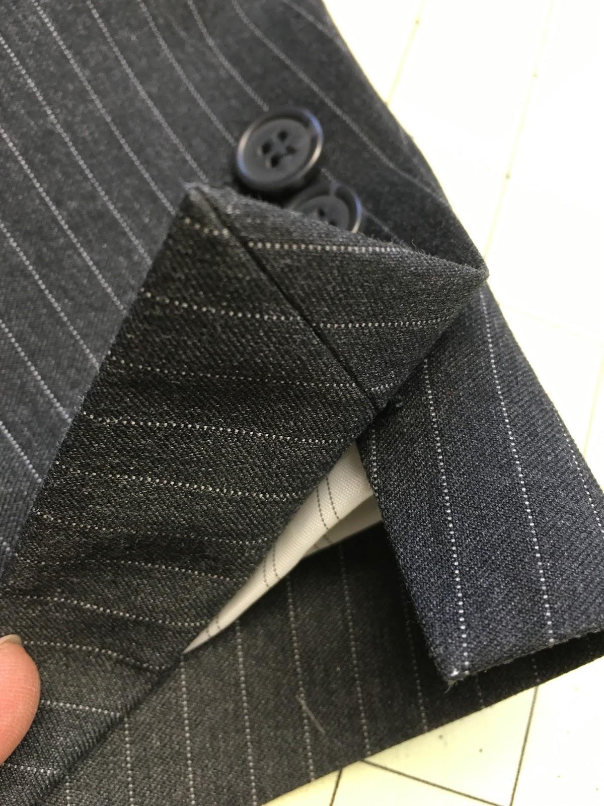 sewcreatelive How to Lengthen (or Shorten) Men\u0027s Suit Sleeves